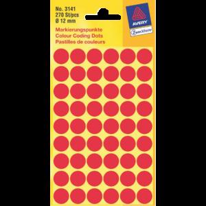 3141 - AVERY Codering Etiket Zweckform 3141 12mm 270st Rood 1 Pak
