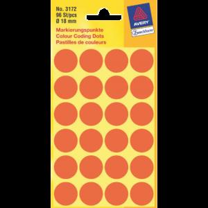 3172 - AVERY Codering Etiket Zweckform 3172 18mm 96st Lichtrood