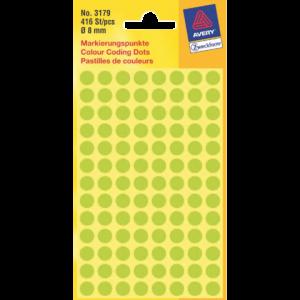 3179 - AVERY Codering Etiket Zweckform 3179 8mm 416st Lichtgroen