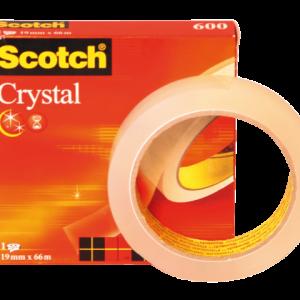 6001966 - 3M Plakband Crystal 19mmx66m Transparant 1st