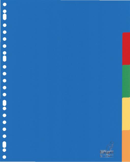 A405M - KANGARO Tabbladen 23-Gaats 5-Delig 120Mµ Diverse Kleuren 1-Set A4