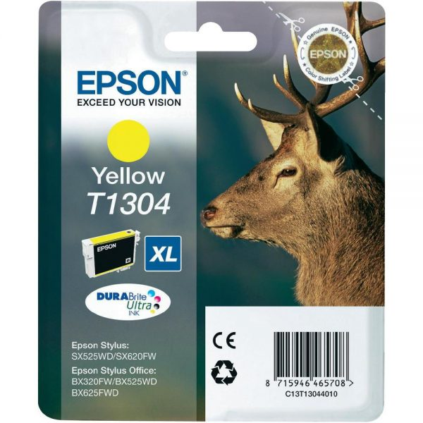 C13T13044010 - EPSON Inkt Cartridge T1304 Yellow 10,1ml 1st