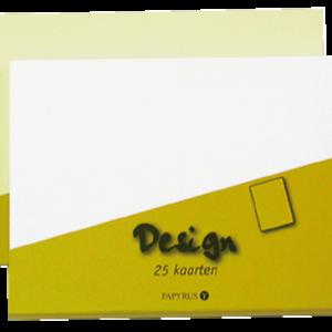 894420 - PAPERMATE Enkele Kaart Design 105x148mm Ivoor 25st