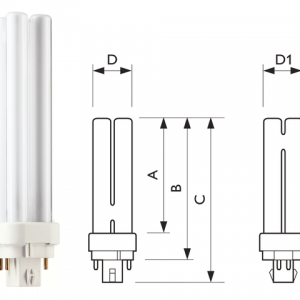 PLC18W8304P - PHILIPS Spaarlamp G24 4-Pin 18W