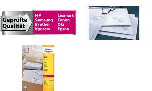 L7160-40 - AVERY Adres Etiket Papier Mat Permanent Zweckform L7160 63.5x38.1mm 840st Wit 1 Pak