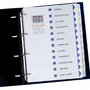 L7410-10M - AVERY Tabbladen 9-Gaats Printbaar Wit 1Pak A4